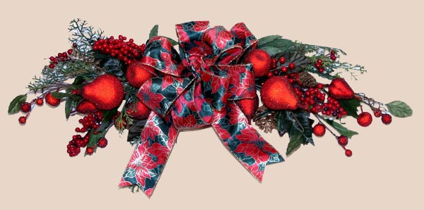 Shaganappi Designs - Christmas Red Fruit Swag