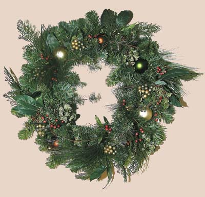 Shaganappi Designs - Christmas Evergreen Wreath